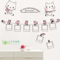 The third generation wall stickers cartoon photos wall decoration stickers kitten