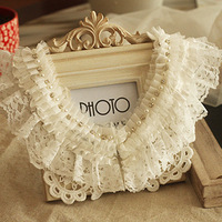 Girls pearl exquisite elegant vintage lace necklace false collar