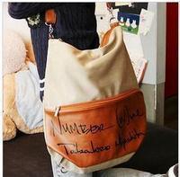 Free shipping Canvas bag women's bags letter one shoulder handbag messenger bag backpack school bag