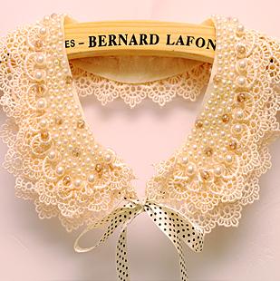 Japanese lady joker pearl spring fake collar collar lace ribbon