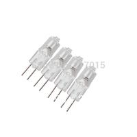 10Pcs Mini Warm White G4 12V 35W Tungsten Halogen Lamp Light Bulb