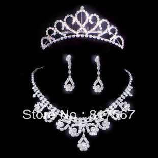 Charming alloy jewelry accessary include crown/necklace/earring princess style for decoration(China (Mainland))
