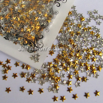 Gold And Silver Optional Star Shape diy acrylic 3d metal nail art decorations rhinestone Metallic Nail Studs Drop shipping