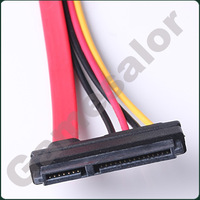 Free Shipping 15+7 Pin Data to 4 pin IDE Power SATA hard Cable #9645