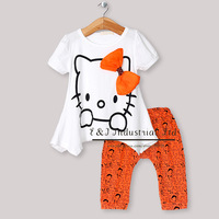 New Fashion Baby Girls Clothing Sets 2Pcs Baby T Shirt And Children Pants For Children Clothes Infant Summer Wear CS30301-15^^EI