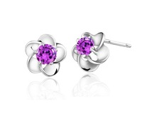 Hot Sale 2013 Wholesale Fashion 925 Silver Jewelry   Newest 925 Sterling Silver Earrings Factory Price