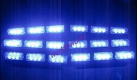 6x9 54LED LED Car Truck Vehicle Grill Emergency Flash Strobe Light 3 Modes(A.B.C)