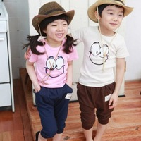 5 sets /lot  2013 Promotion Children Kids Clothing Boys Girls Clothes Set Autumn Spring Wear HOT AA5225