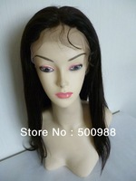 "16"" Brazilian virgin hair full lace wig in stock"