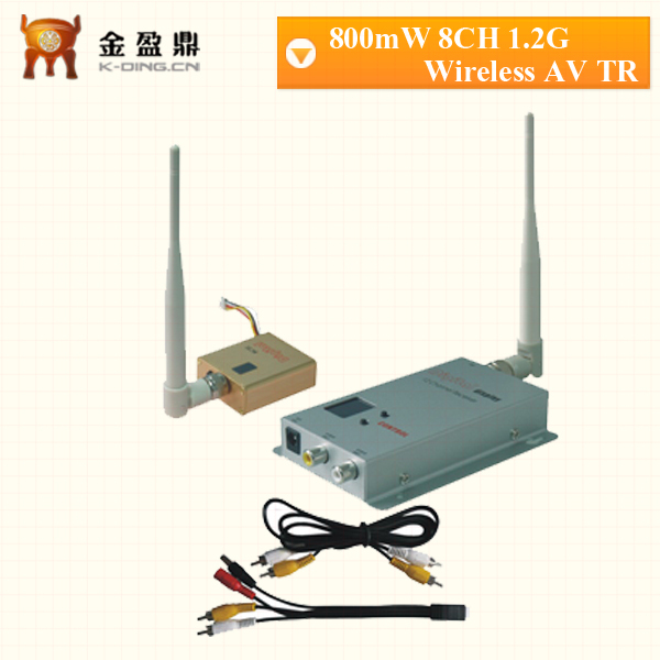 1.2ghz wireless audio video transmitter&receiver with 8ch 800mW long range for 1km(China (Mainland))