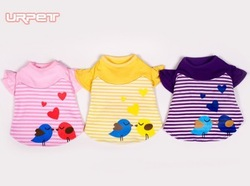 Cheap pet shirt Cutepet apparel dog dress Wholesale jacket free shipping 2013 Newest size XS-XL Lovely bird(China (Mainland))