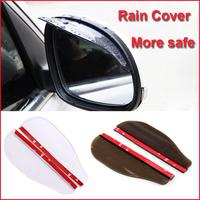 2Pcs Universal Flexible PVC Car Rearview Mirror Rainproof Blades for Car Rain Cover Accessories Free Shipping