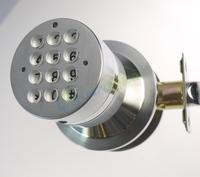 Keyless electronic code door lock,support 10 sets of access code