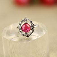 New Womens Ladies 925 Sterling Silver Red Ruby Ring UK Size N, O, P, Q  R3