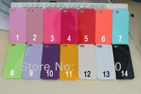 14 colors Hard Plastic Case for iphone 5 5S Candy Case for iphone 5 5S 20pcs/lot