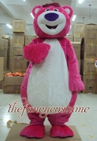 1541  Lotso pink bear , hot sale, free ship , Mascot Costume, cartoon , Halloween cosplay Dress