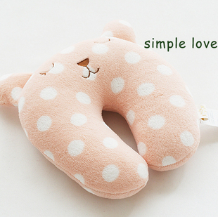 Day gift polka dot rabbit pear high quality u shaped pillow neck pillow(China (Mainland))