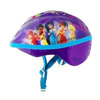 Child skating helmet four wheel scooter bicycle skating helmet purple fairy