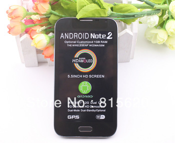 "N9550 Dual SIM Android 4.1 Mobile Phone,5.3"" Note II MTK6577 Dual Core Smartphone,GSM Phone,WCDMA Android Phone"