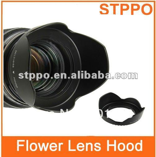 Flower Petal Shaped Lens Hood 58mm For Digital Camera Accessories(China (Mainland))