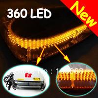 NEW ARRIVAL 2013 Brand New Amber 360 - LED Warning Mini Light Bar Strobe Light AMBER Free Shipping