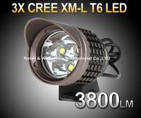 SecurityIng 3X CREE XM-L T6 LED 3800Lm Waterproof bike Light Bicycle headlight headlamp flashlight((UniqueFire 005)