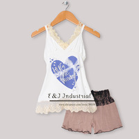 Wholesale Cotton New Summer Kids Clothing Set T Shirt With Love Heart Soft Pants Children Wear Baby Girls Clothes CS30301-39^^EI