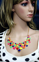 2014 Free Shipping New Style Statement Bib Collar Charm Necklace  Fashion Necklace for women Girls(OY103152)