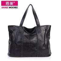 Women's handbag 2013 first layer of cowhide large bag genuine leather shoulder bag casual fashion brief women's bags wholesales