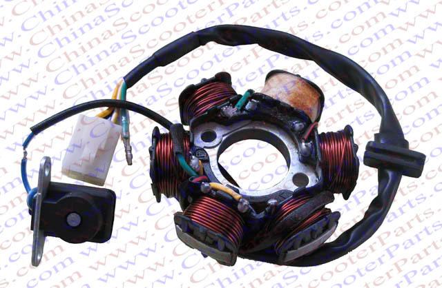 similiar zongshen 4 wheeler 110 keywords stator 6 pole coil 5 wire 50cc 70cc 90cc 110cc 125cc lifan zongshen
