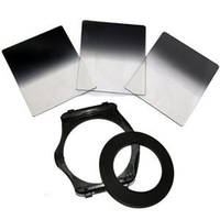 Camera Filters 3pcs Gradual ND2 4 8 Filter 77mm Adapter Ring Holder for Cokin P Series