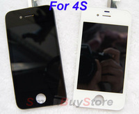 For iPhone 4s LCD Display+Touch Screen digitizer+Frame assembly black or white,Free Shipping,100% gurantee Original LCD