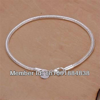 LQ-H187 Free ship Factory Price 925 silver Fashion Chain Bracelet, 925 Silver Bracelet Wholesale lots  cdva kvca tmla