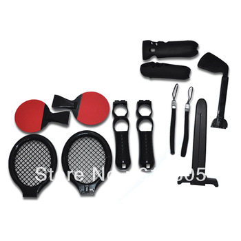12 in 1 Kit Pack Sets PS Move Motion Controller for Sony PS3 Console Sport Game