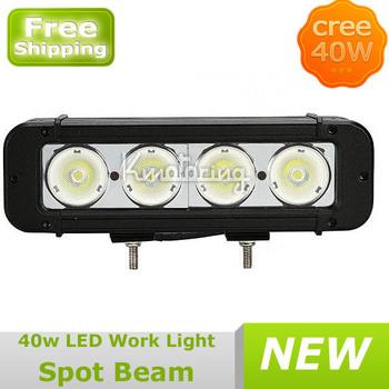 Wholesale Car External Led Lights,40W LED Work Light Lamp Off Road Boat UTV SUV 4x4 4WD Mine Boat Spot FREE DHL SHIPPING