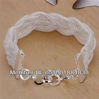 LQ-H253 Free ship Factory Price 925 silver Fashion Chain Bracelet, 925 Silver Bracelet Wholesale lots  cgca kxja tosa