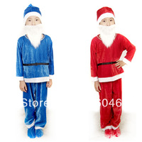 Santa Clause costume for kids,7ccolour available,Free shipping