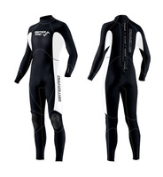Water Pro Color Base Full Suit 3.5mm Wetsuits Neoprene Unisex White / Blk Water Sports Surfing Snorkeling Scuba Diving Wholesale