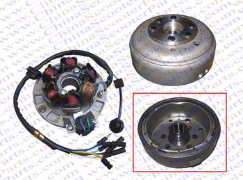 Magneto Stator 6 Pole Coil 6 Wire Flywheel Rotor Kit Lifan 1P55FMJ 140CC  Lifan Xmotos Kaya Apollo  Dirt Pit Bike  Parts