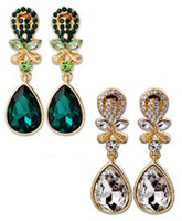Newest Style 2013  Classic Crystal Earring Jewelry  Metal Material  Earring for Women Free Shipping . OY1303141