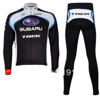 FREE SHIPPING 2011 Subaru Thermal Cycling Long Sleeve Jersey and Pants Set