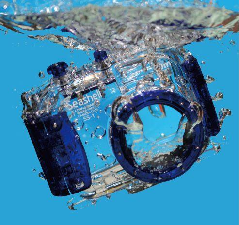 Seashell SS-1 Waterproof Housing 40 meters Suitable for External Zoom Lens Compact Digital Camera Diving Snorkeling(China (Mainland))