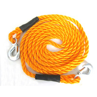 Free shipping Car emergency supplies trailer rope car towing rope nylon rope neon 3 4 meters