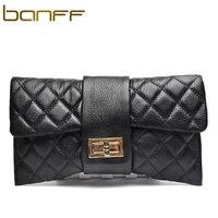Banff women's day clutch female 2013 women's genuine leather handbag dimond plaid clutch chain shoulder bag