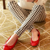 Free Shipping Fashion 2013 Spring New In Women's Pencil Pants Vintage Houndstooth Slim Female Long Skinny Pants