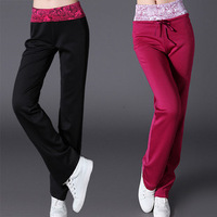 Free shpping spring 2014 spring women's casual sports pants south korean silk slim casual pants sports trousers