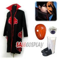 cosplay anime Clothing suit Akatsuki Uchiha Madara Robe Mask Shoes Ring Full Set Halloween Cloth