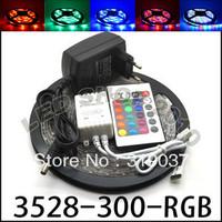 5M 3528 RGB Waterproof Flexible Strip 300 LED Light 24Key IR P Supply EU