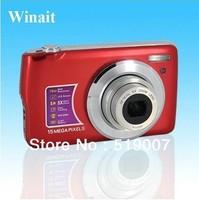 15MP 2.7'' TFT ZOOM SHOT Touch screen Anti-Shake digital camera+ 4X digital zoom+ free shipping