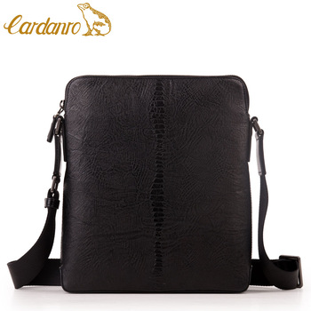 luxury man bag ostrich first layer of cowhide commercial casual messenger bag